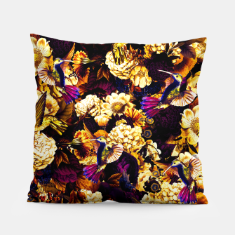 Thumbnail image of hummingbird paradise ethereal autumn flower pattern ls Pillow, Live Heroes