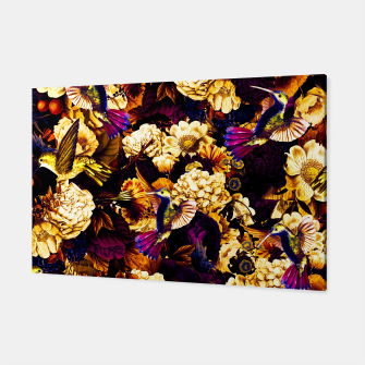 Thumbnail image of hummingbird paradise ethereal autumn flower pattern ls Canvas, Live Heroes