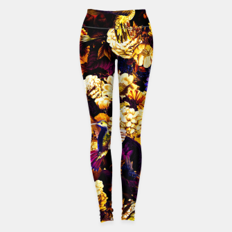 Miniature de image de hummingbird paradise ethereal autumn flower pattern ls Leggings, Live Heroes