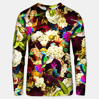 hummingbird paradise ethereal autumn flower pattern std Unisex sweater miniature