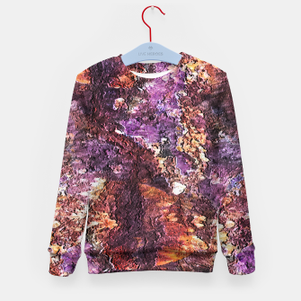 Colorful Rusty Abstract Print Kid's sweater obraz miniatury