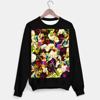 hummingbird paradise ethereal autumn flower pattern std Sweater regular miniature