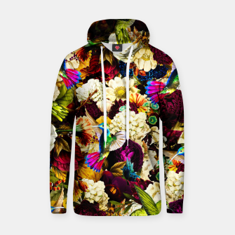 hummingbird paradise ethereal autumn flower pattern std Hoodie miniature