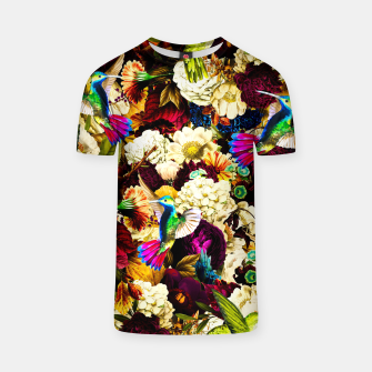 Thumbnail image of hummingbird paradise ethereal autumn flower pattern std T-shirt, Live Heroes