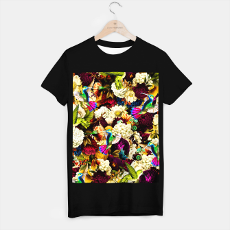 hummingbird paradise ethereal autumn flower pattern std T-shirt regular miniature