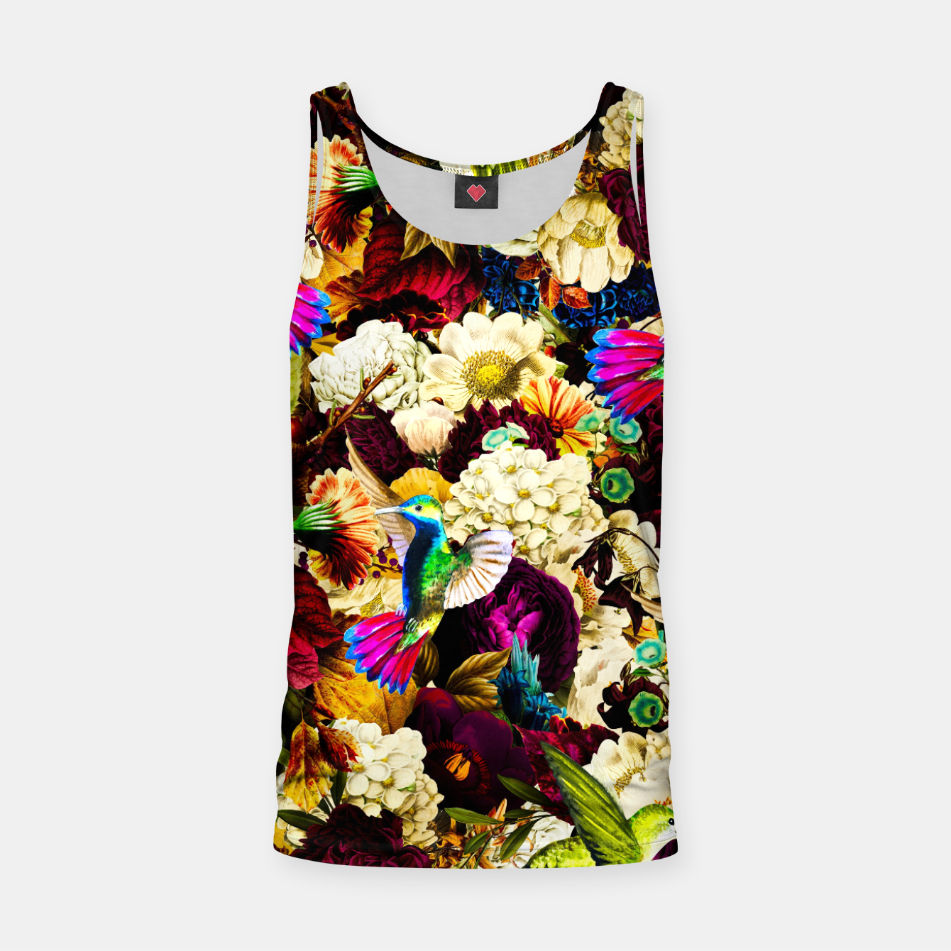 Image de hummingbird paradise ethereal autumn flower pattern std Tank Top - Live Heroes