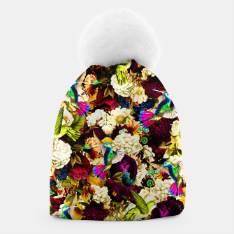 hummingbird paradise ethereal autumn flower pattern std Beanie miniature