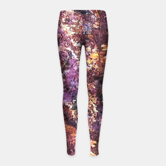 Colorful Rusty Abstract Print Girl's leggings obraz miniatury