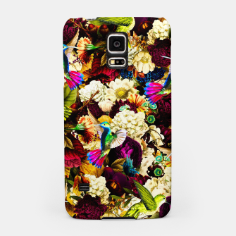 hummingbird paradise ethereal autumn flower pattern std Samsung Case miniature