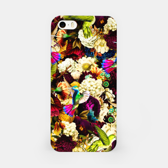 hummingbird paradise ethereal autumn flower pattern std iPhone Case miniature