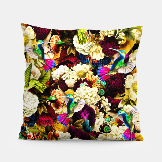 hummingbird paradise ethereal autumn flower pattern std Pillow miniature