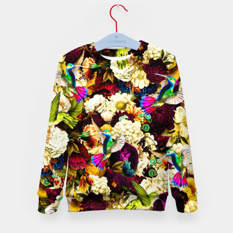 Miniature de image de hummingbird paradise ethereal autumn flower pattern std Kid's sweater, Live Heroes