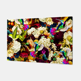 hummingbird paradise ethereal autumn flower pattern std Canvas miniature