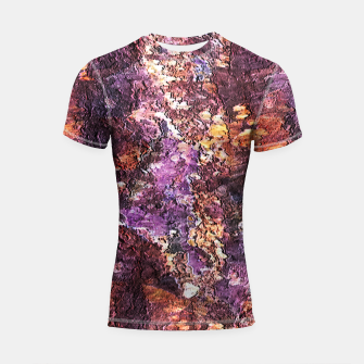 Colorful Rusty Abstract Print Shortsleeve rashguard obraz miniatury