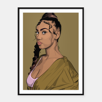 Thumbnail image of QUEENNAIJA Framed poster, Live Heroes