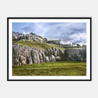 Miniaturka Sacsayhuaman Inca Fortress, Cusco, Peru Framed poster, Live Heroes