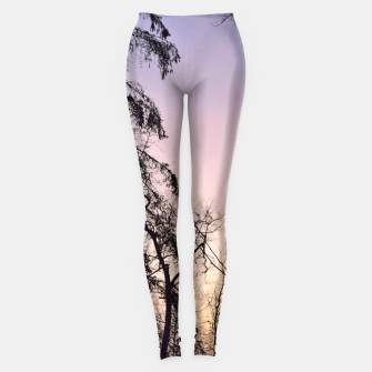 Miniature de image de Sky colors and trees Leggings, Live Heroes