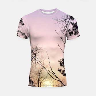 Thumbnail image of Sky colors and trees Shortsleeve rashguard, Live Heroes