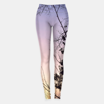 Thumbnail image of Sky colors and trees Leggings, Live Heroes