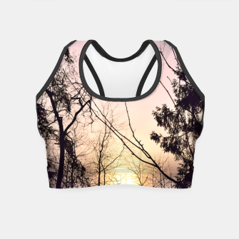 Thumbnail image of Sky colors and trees Crop Top, Live Heroes
