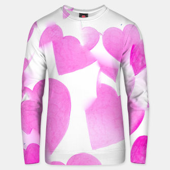 Thumbnail image of Blended Heart Design Unisex sweater, Live Heroes