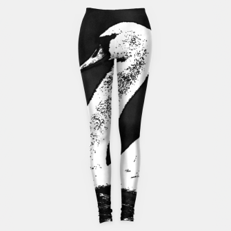 Miniature de image de swan black and white Legginsy, Live Heroes