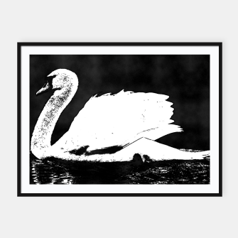 Thumbnail image of swan black and white Plakaty w ramie , Live Heroes