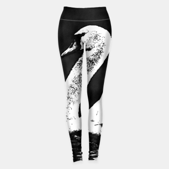 Thumbnail image of swan black and white Legginsy, Live Heroes