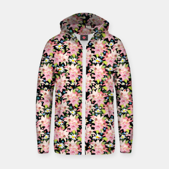 Thumbnail image of Floral Gardenscape Zip up hoodie, Live Heroes