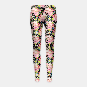 Thumbnail image of Floral Gardenscape Girl's leggings, Live Heroes
