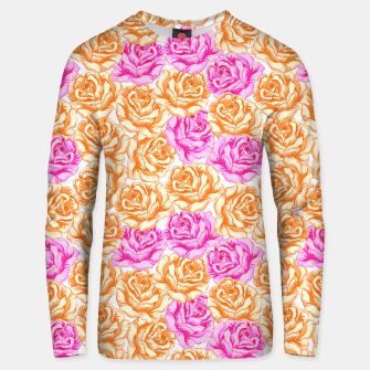 Thumbnail image of Floral Pink Roses Unisex sweater, Live Heroes