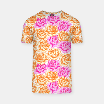 Thumbnail image of Floral Pink Roses T-shirt, Live Heroes
