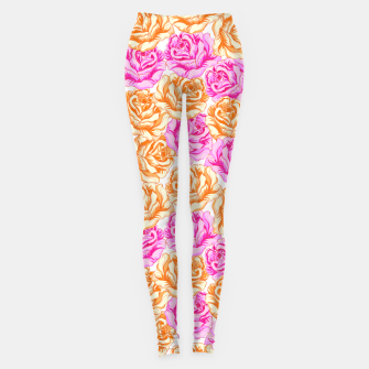 Thumbnail image of Floral Pink Roses Leggings, Live Heroes