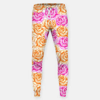 Miniaturka Floral Pink Roses Sweatpants, Live Heroes