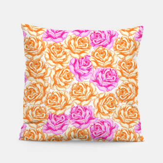 Thumbnail image of Floral Pink Roses Pillow, Live Heroes