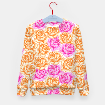 Thumbnail image of Floral Pink Roses Kid's sweater, Live Heroes