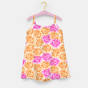 Floral Pink Roses Girl's dress Bild der Miniatur