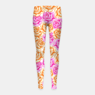 Thumbnail image of Floral Pink Roses Girl's leggings, Live Heroes