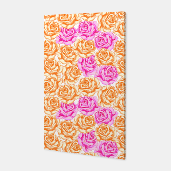 Thumbnail image of Floral Pink Roses Canvas, Live Heroes