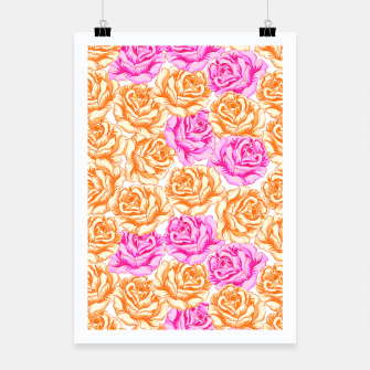 Thumbnail image of Floral Pink Roses Poster, Live Heroes