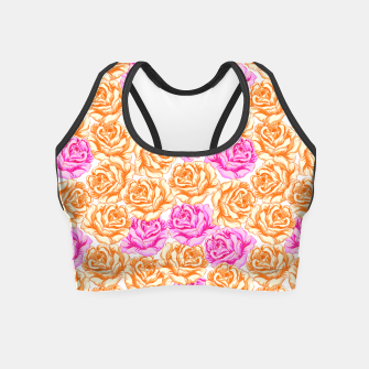 Thumbnail image of Floral Pink Roses Crop Top, Live Heroes