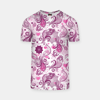Thumbnail image of Floral Red Peacock T-shirt, Live Heroes