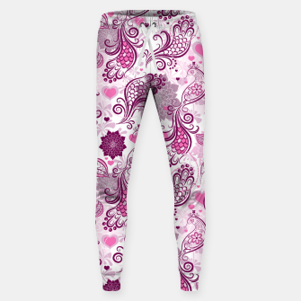 Floral Red Peacock Sweatpants Bild der Miniatur