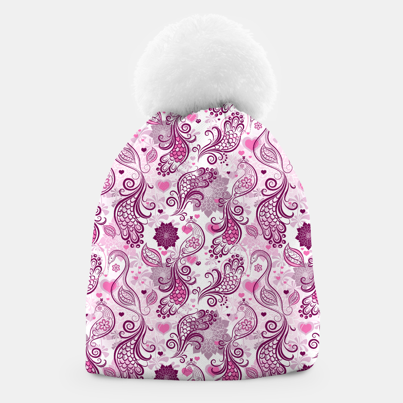 Foto Floral Red Peacock Beanie - Live Heroes
