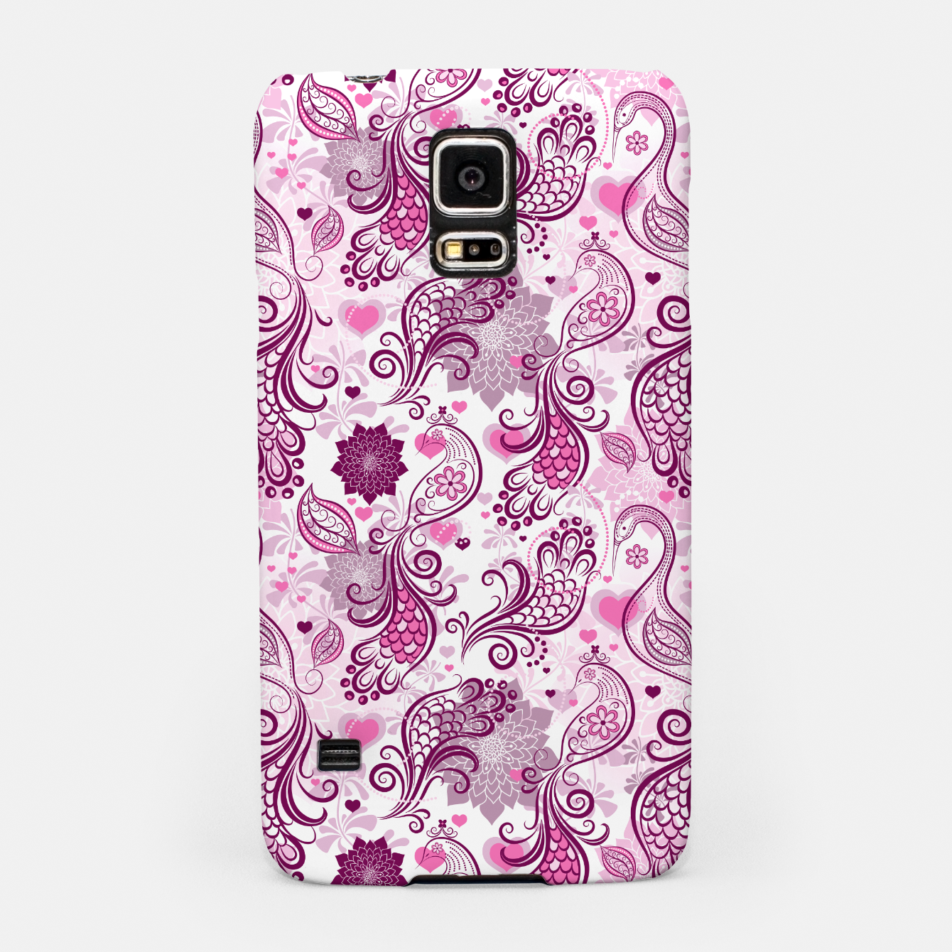 Foto Floral Red Peacock Samsung Case - Live Heroes