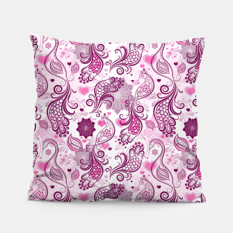 Miniatur Floral Red Peacock Pillow, Live Heroes