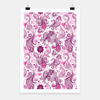 Thumbnail image of Floral Red Peacock Poster, Live Heroes