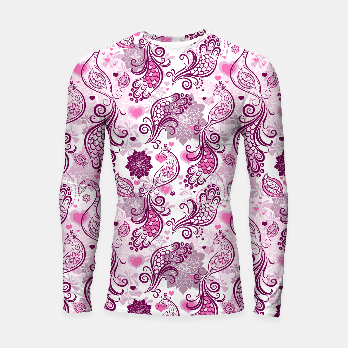 Foto Floral Red Peacock Longsleeve rashguard  - Live Heroes