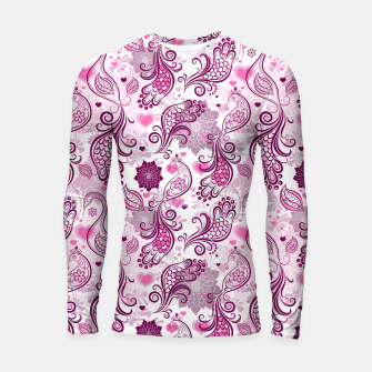 Thumbnail image of Floral Red Peacock Longsleeve rashguard , Live Heroes