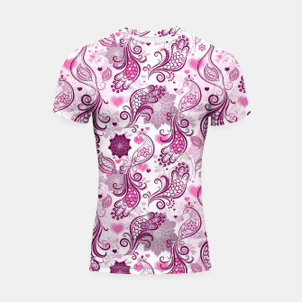 Thumbnail image of Floral Red Peacock Shortsleeve rashguard, Live Heroes